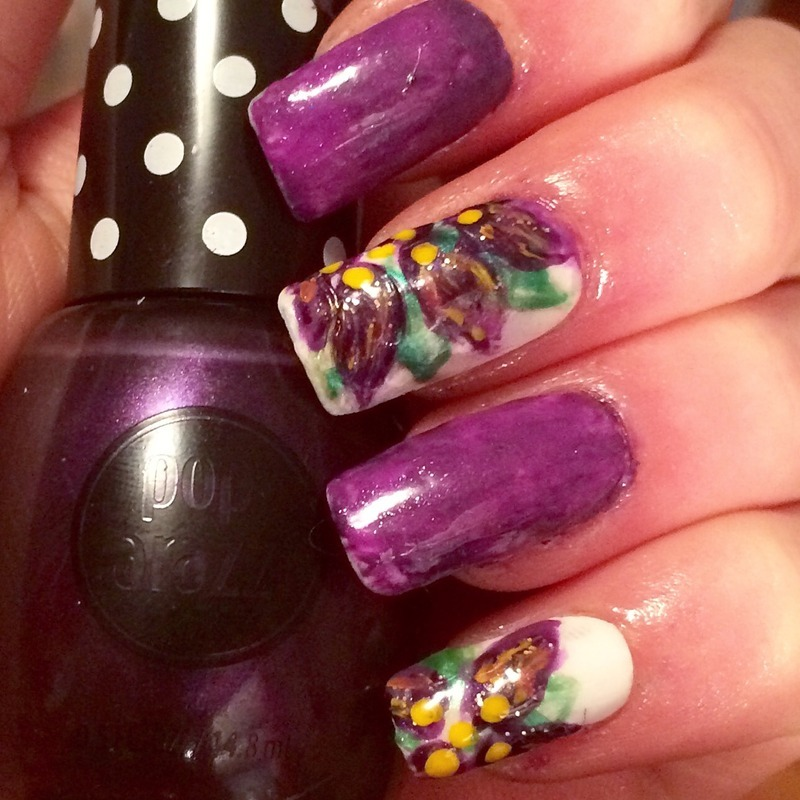 Abstract Purple Pedal Nails nail art by Charlotte