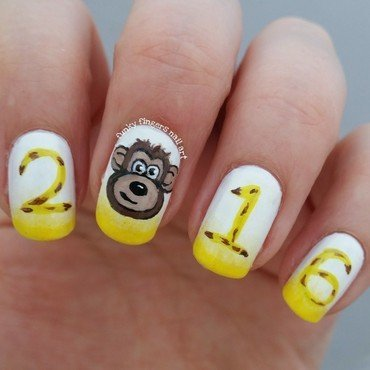 2016 the year of the monkey nail art by Funky fingers nail art