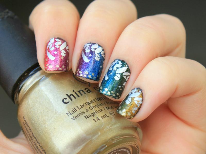 NYE Party Nails nail art by Moriesnailart