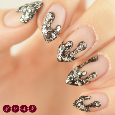 Just Add Glitter nail art by Becca (nyanails)
