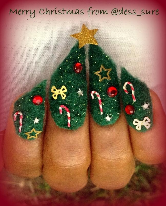 Tree nail art by Dess_sure