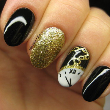5,4,3,2,1...Happy New Year nail art by specialle