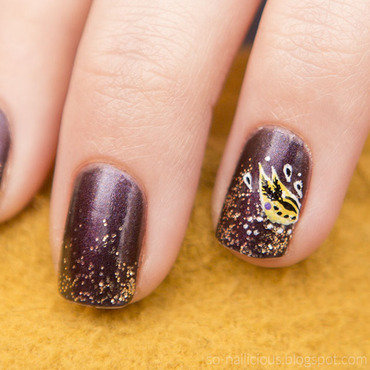 New Year nail art by Magdalena