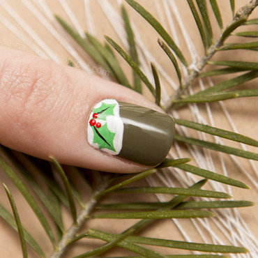Xmas nail art by Magdalena