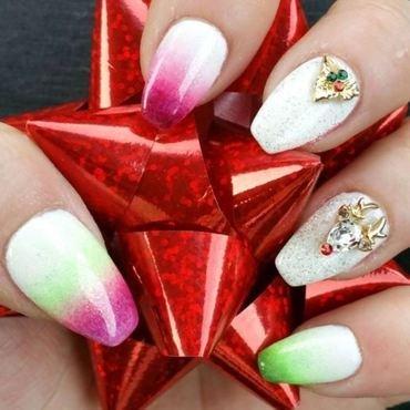 Christmas Claws nail art by Kristen Lovett