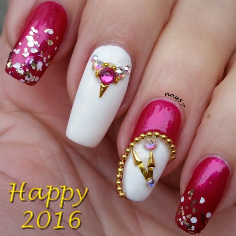 NYE Nails nail art by Nora (naq57)