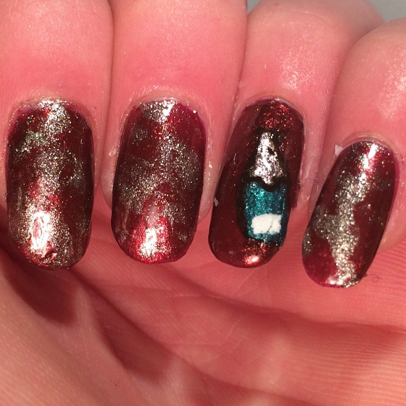 Champagne nails for New Years! nail art by Charlotte