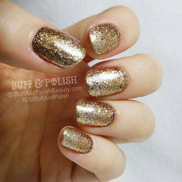 Golden Glitter Gradient New Year Nails nail art by Buff & Polish