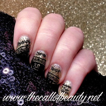 Happy New Year Manicure nail art by The Call of Beauty