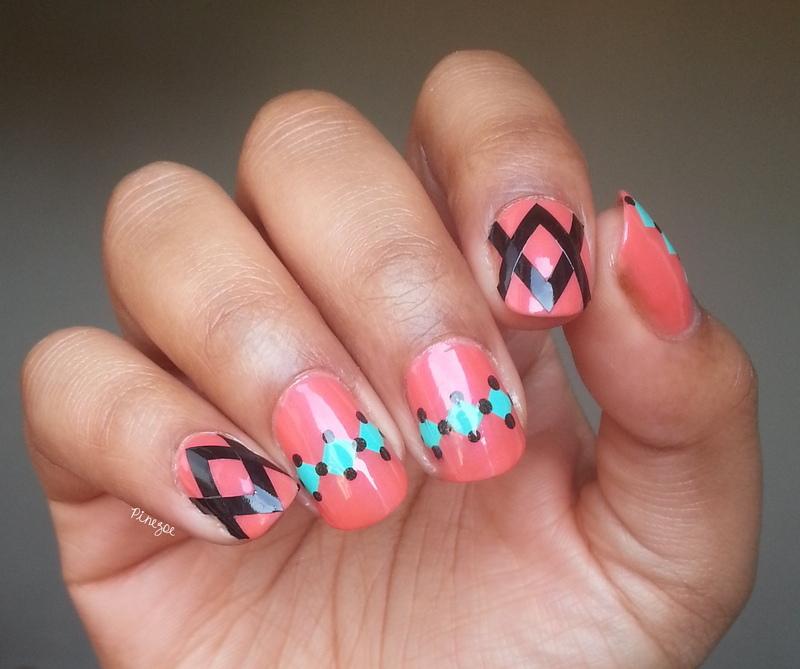 Nail vinyls nail art by Pinezoe