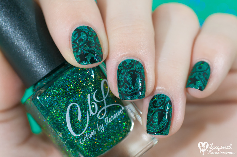 Tree of Lights nail art by Lacquered Obsession