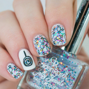 Sweets form St. Nicholas nail art by Lacquered Obsession
