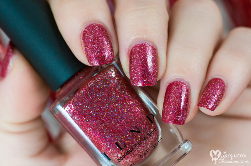 ILNP Cherry Luxe Swatch by Lacquered Obsession