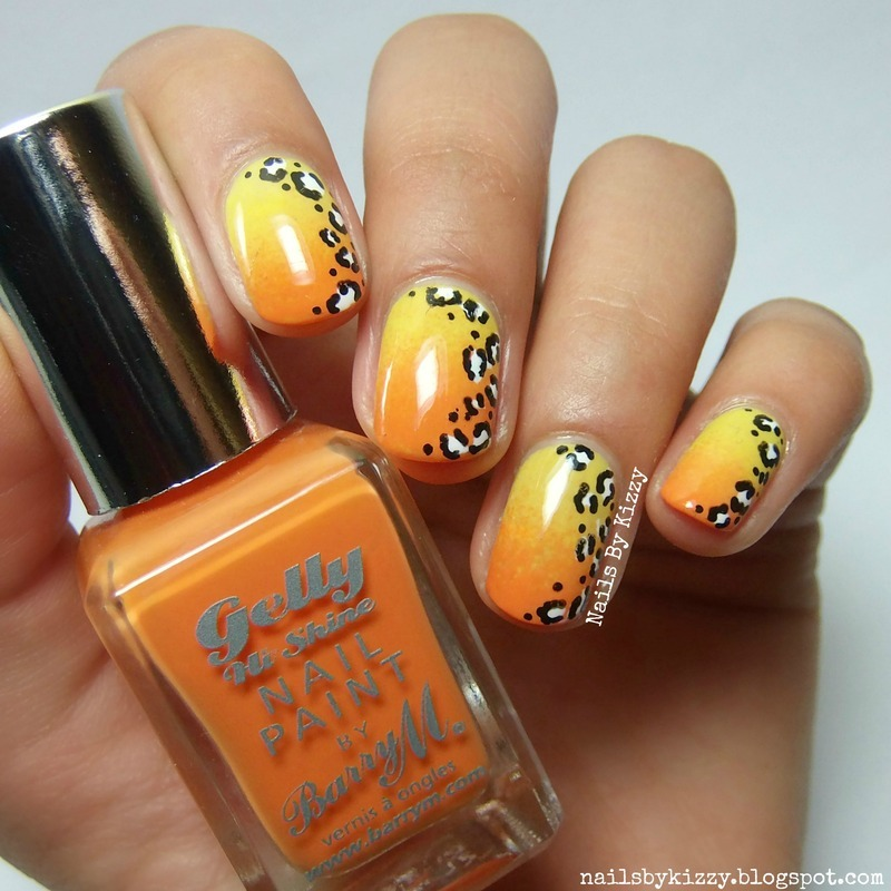 Gradient Leopard Print Nails nail art by Kizzy