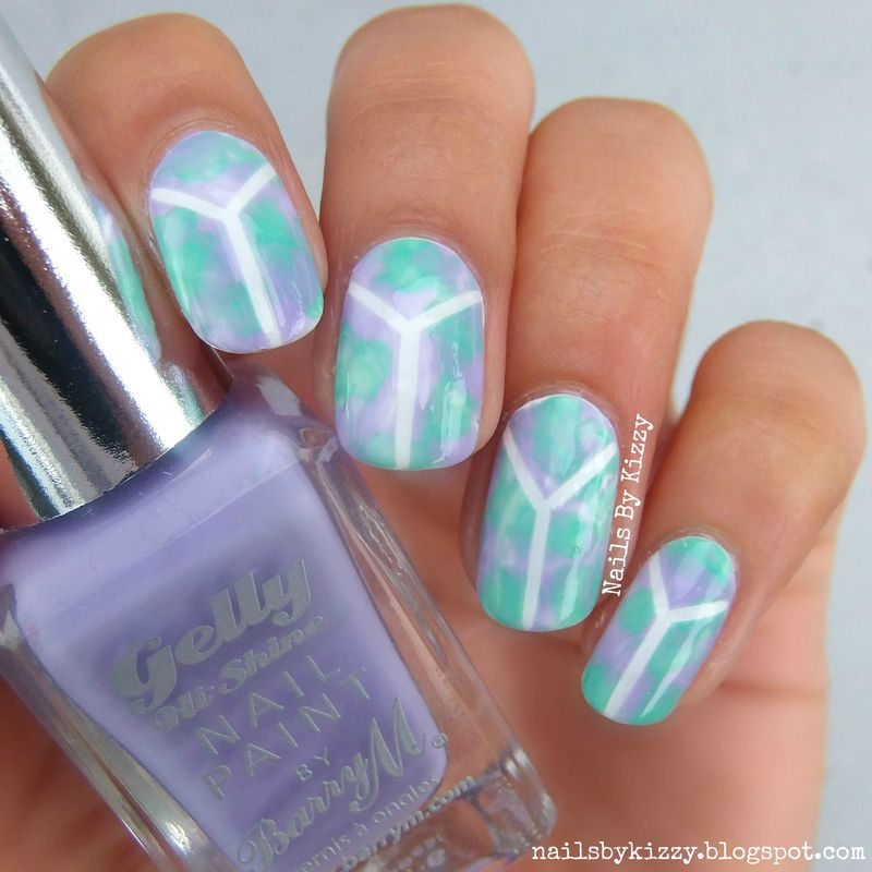 Mint and Lilac Nails nail art by Kizzy