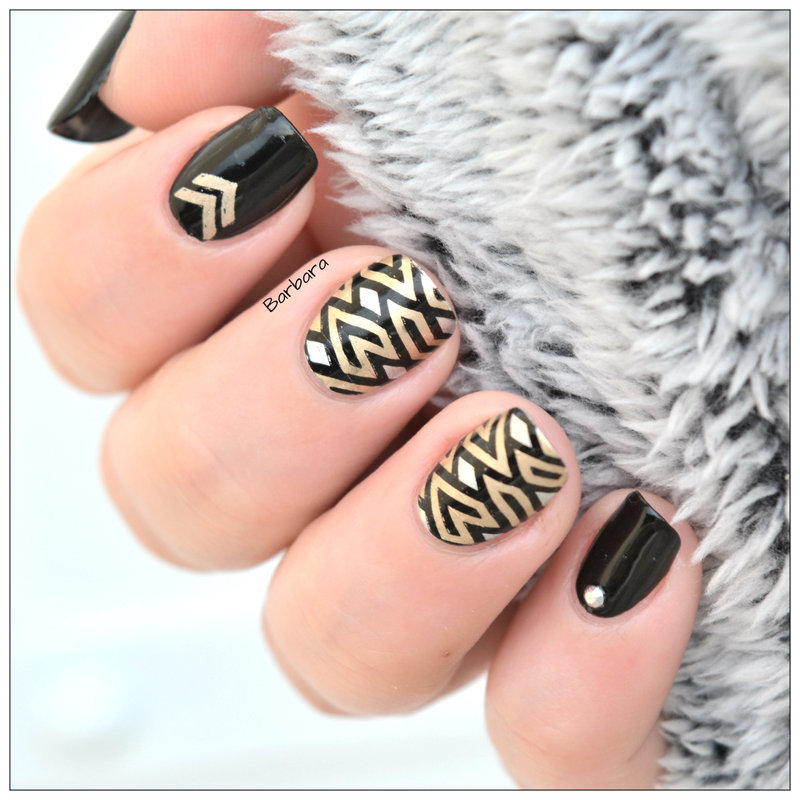 Twin Stamping #3 nail art by Les ongles de B.