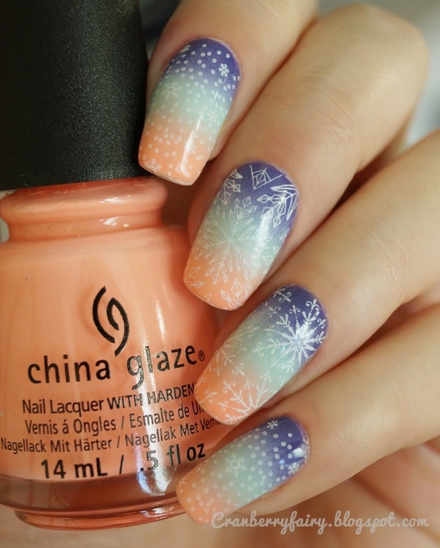 Happy winter! nail art by Cranberry Fairy