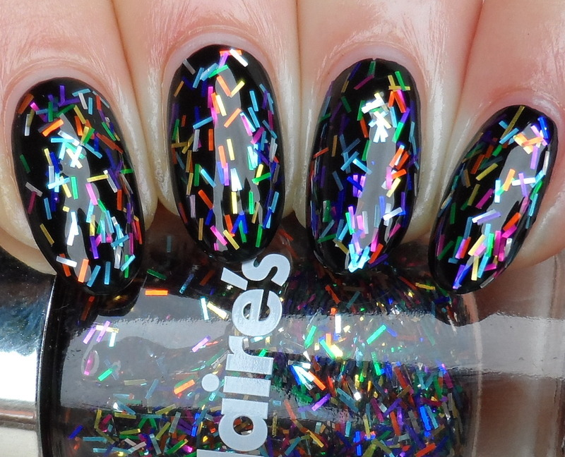 Maybelline Blackout and Claire's Festive Fun Swatch by Plenty of Colors
