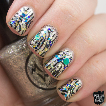 New Year Sparkles nail art by Marisa  Cavanaugh