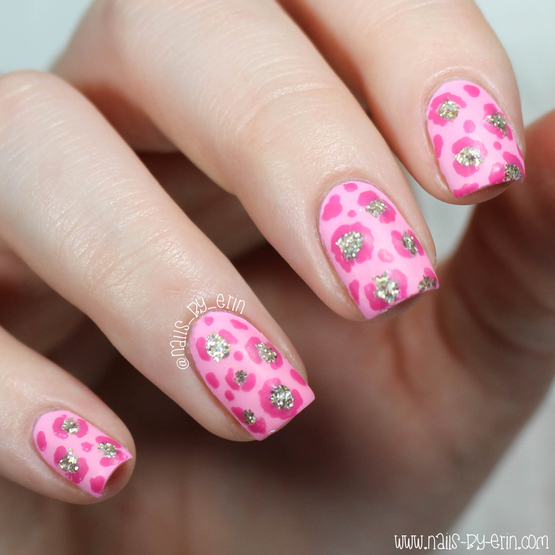 Pink Leopard Nails nail art by Erin