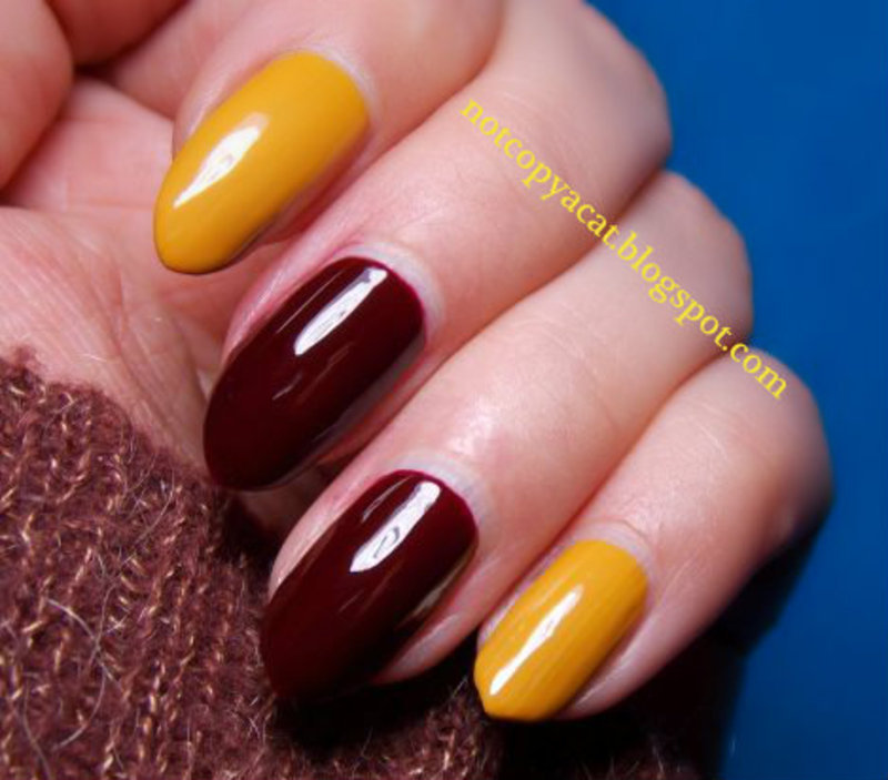 Golden Rose, Wow! nr 59 + Barry M, Gelly Hi-Shine, Mustard nail art by notcopyacat