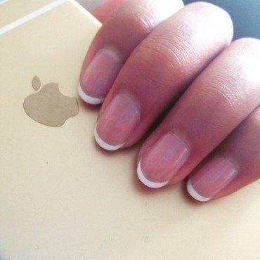 just a french mani nail art by OliviaNailArt