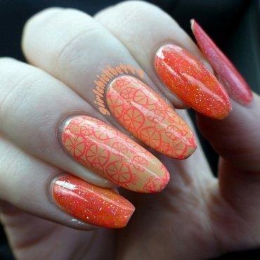 Orange you glad to see these nails? @girlchickbetty nail art by girlchickbetty
