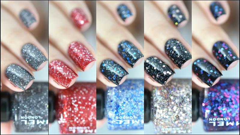 Rimmel Glitter nail art by Marine Loves Polish