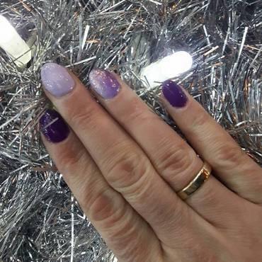 ombre purple mermaid effect nail art by Ewa EvaNails