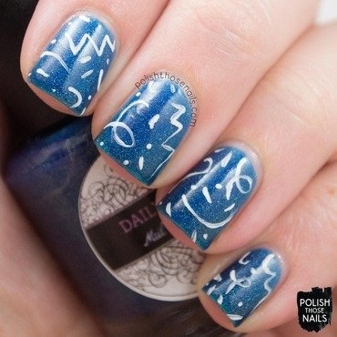Daily hues nail lacquer sea blue holo white nail art 3 thumb370f