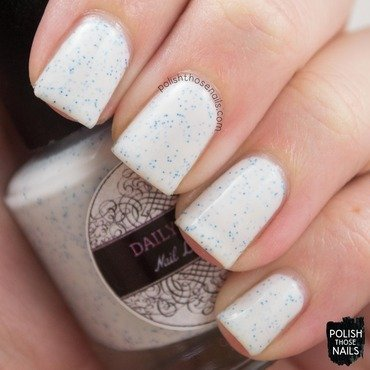 Daily hues nail lacquer ellie white blue glitter swatch 3 thumb370f