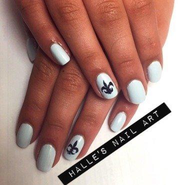 Kappa Kappa Gamma nail art by Halle Butler