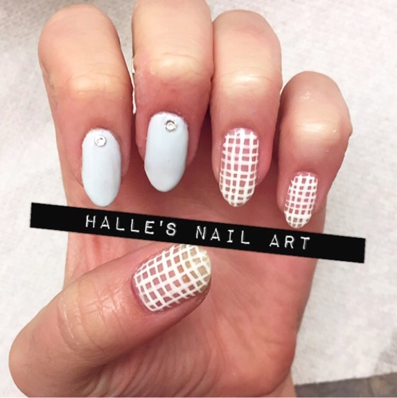 Off the Grid nail art by Halle Butler