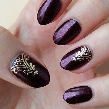 3D Metallic Nail Art Stickers nail art by Mgielka M