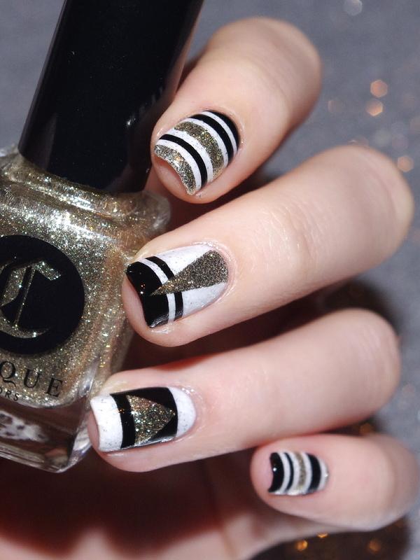 Happy New Year ! nail art by Bulleuw