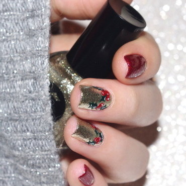Christmas nail art by Bulleuw