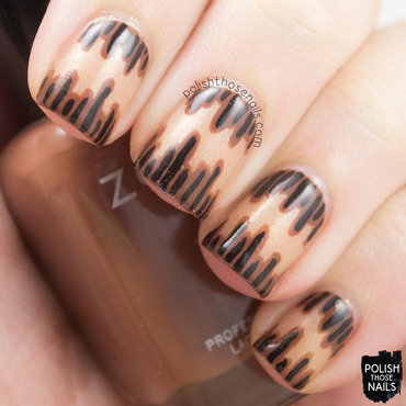 Brown line strip nail art 4 thumb370f