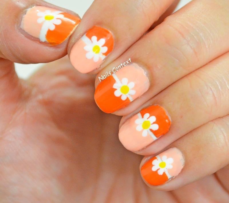 Tangerine Nails  nail art by NailsContext