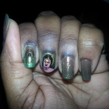 Buddha Henna nail art by momo
