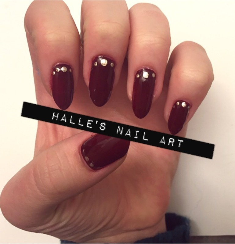 Marooned nail art by Halle Butler