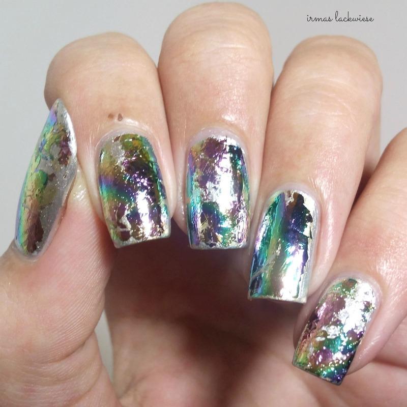 hello foils... nail art by irma