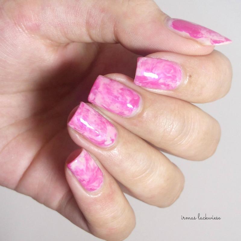 pink smoky nails nail art by irma