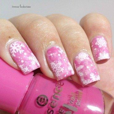 Pink 20smoky 20nails 20 13  20 2b 20moyou 20snowflake 20stamping thumb370f