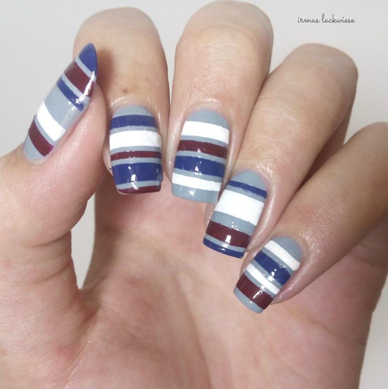 stripes nail art by irma