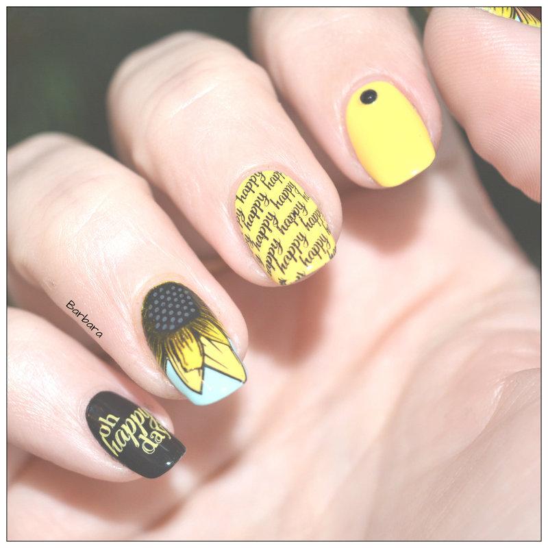 Tournesol nail art by Les ongles de B.