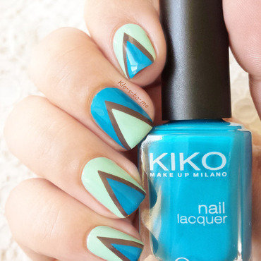 Blue Triangles nail art by klo-s-to-me