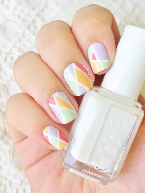 Geometric colors nail art by klo-s-to-me
