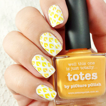 Pineapple nail art by klo-s-to-me