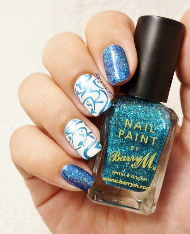 Fish and nails nail art by klo-s-to-me