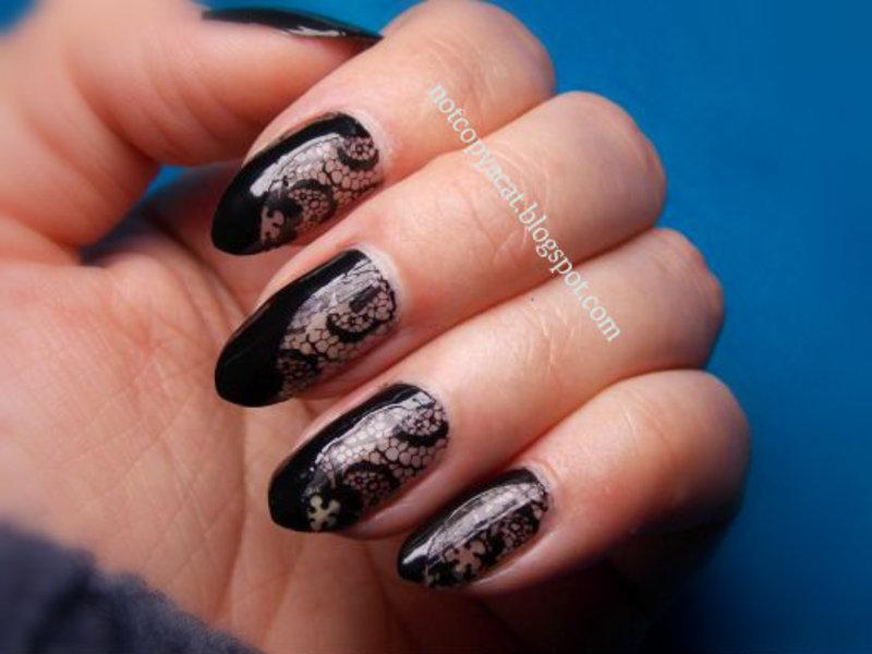 Half dressed, half naked :) nail art by notcopyacat